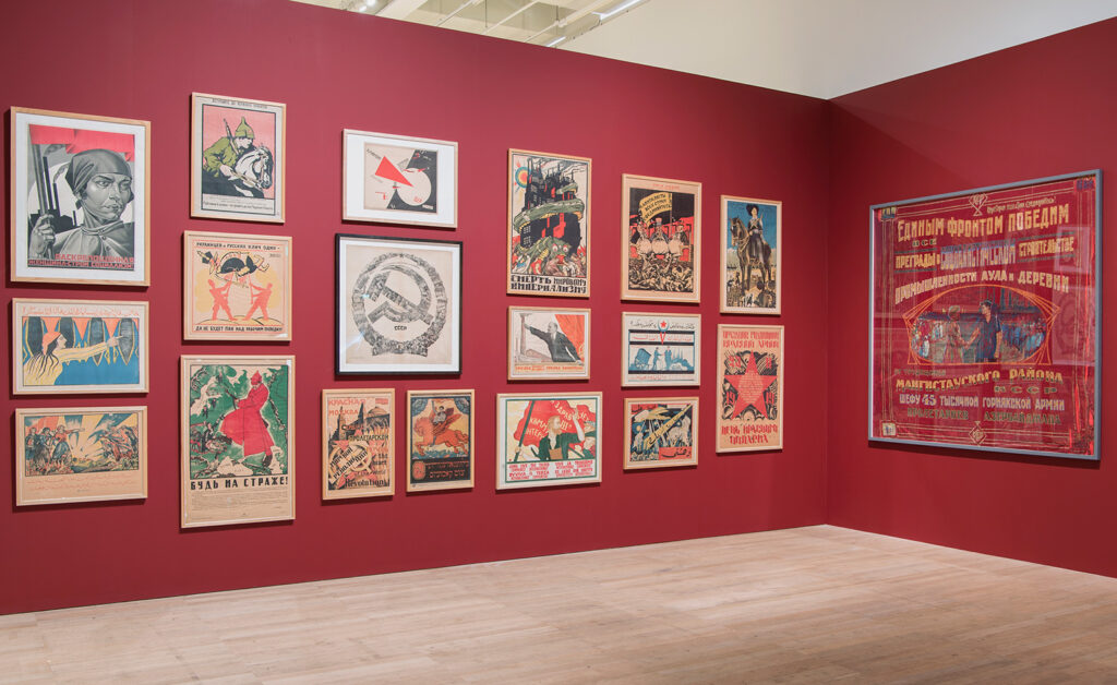 Installation view, 'Red Star Over Russia: A Revolution in Visual Culture 1905-55'. Photography: Tate Photography